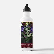 hhjj journal flowers 2 Water Bottle