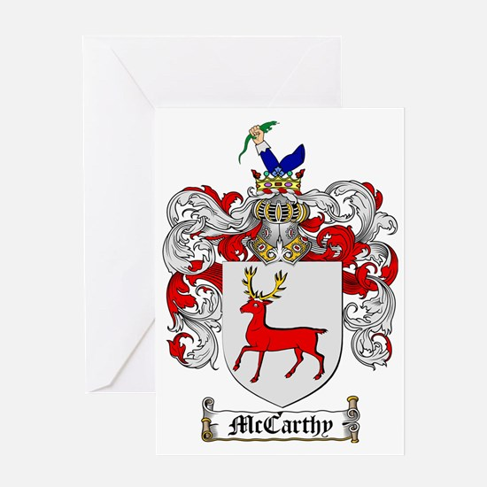 McCarthy Family Crest - coat of arms Greeting Card