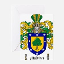 Martinez Family Crest - coat of arms Greeting Card