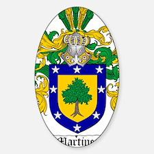 Martinez Family Crest - coat of arm Sticker (Oval)