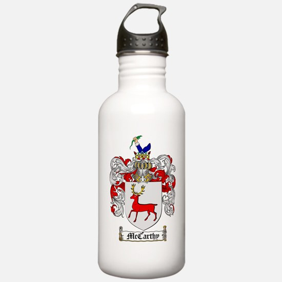 McCarthy Family Crest  Water Bottle