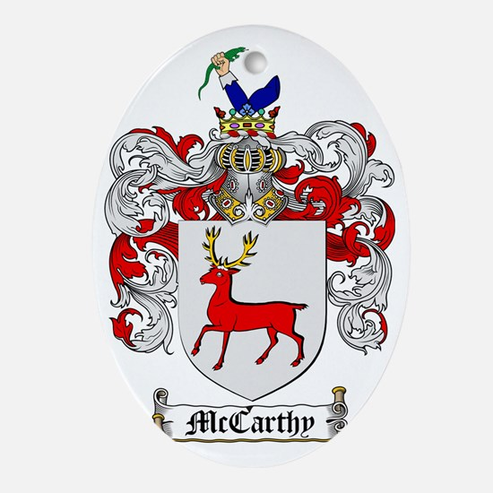 McCarthy Family Crest - coat of arms Oval Ornament