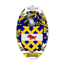 McCann Family Crest - coat of arms Oval Car Magnet