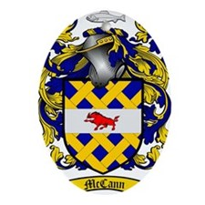 McCann Family Crest - coat of arms Oval Ornament