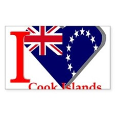 I love Cook Islands Rectangle Decal