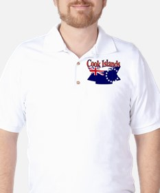 Cook Island flag ribbon T-Shirt
