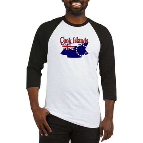 Cook Island flag ribbon Baseball Jersey