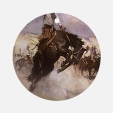 Breezy Riding by Koerner Round Ornament
