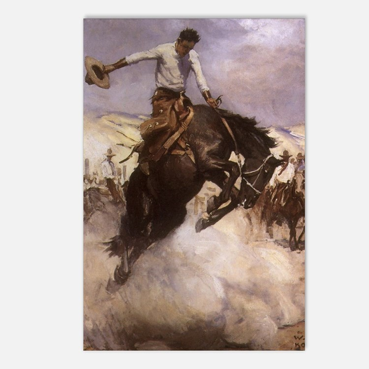 Breezy Riding by Koerner Postcards (Package of 8)