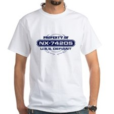 Property of USS Defiant (Blue) T-Shirt