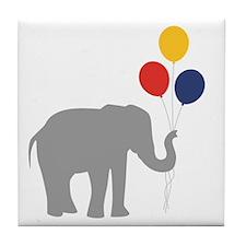 Party Elephant Tile Coaster