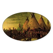 Sioux War Council by George Catlin Decal