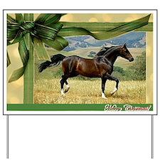 Morgan Horse Christmas Yard Sign