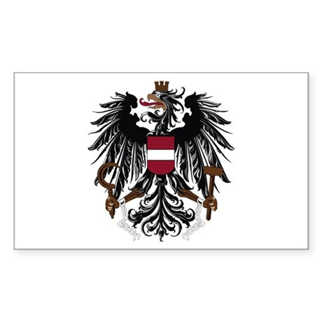 Austrian Coat of Arms Rectangle Sticker