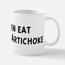 Men eat Jerusalem Artichoke Mug