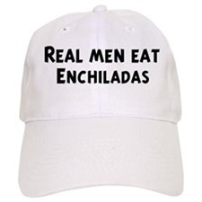 Men eat Enchiladas Baseball Cap
