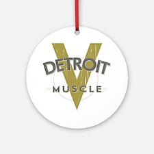 Detroit Muscle copy Round Ornament