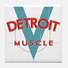 Detroit Muscle red n blue Tile Coaster
