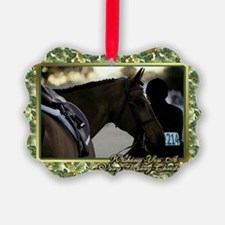 English Show Horse Christmas Ornament