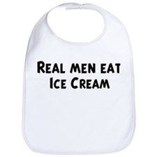 Men eat Ice Cream Bib