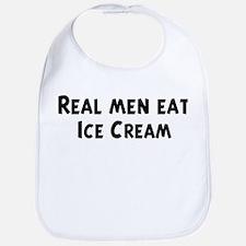 Men eat Ice Cream Bib