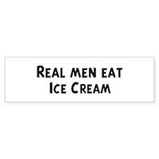 Men eat Ice Cream Bumper Bumper Sticker