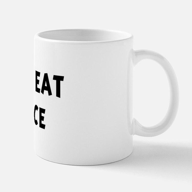 Men eat Dirty Rice Mug