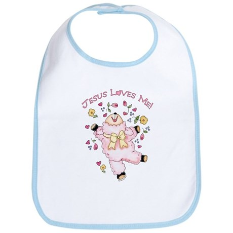 Lamb Jesus Loves Me Bib