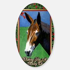 Mule Christmas Decal