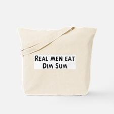 Men eat Dim Sum Tote Bag