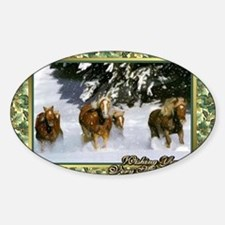 Haflinger Horse Christmas Decal