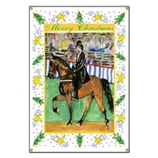 Tennessee Walking Horse Christmas Banner