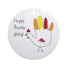 Happy Thanks Giving Ornament (Round)