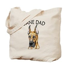 Brindle Dane Dad Tote Bag