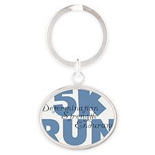 5K Run Blue Oval Keychain