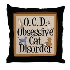 Cat Crazy Throw Pillow