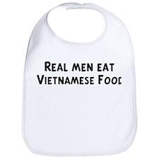 Men eat Vietnamese Food Bib