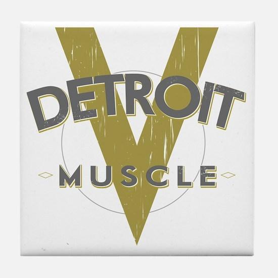 Detroit Muscle copy Tile Coaster