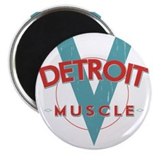 Detroit Muscle red n blue Magnet