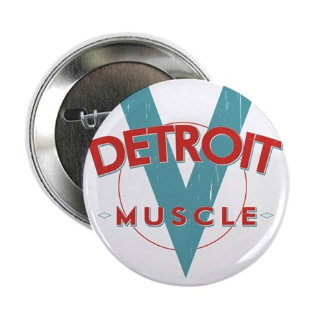 "Detroit Muscle red n blue 2.25"" Button"
