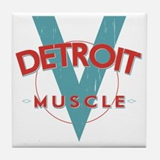 Detroit Muscle red n blue Tile Coaster
