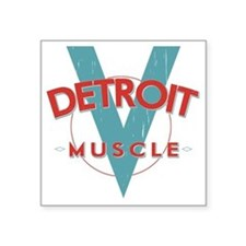 """Detroit Muscle red n blue Square Sticker 3"""" x 3"""""""
