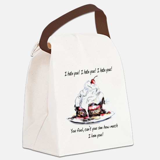 I hate you, I love you Canvas Lunch Bag