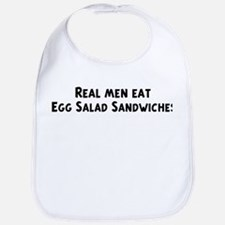 Men eat Egg Salad Sandwiches Bib