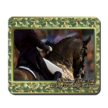Dressage Horse Christmas Mousepad