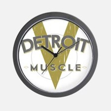 Detroit Muscle copy Wall Clock