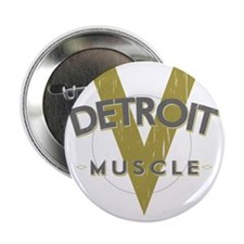"""Detroit Muscle copy 2.25"""" Button"""