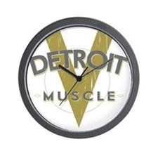 Detroit Muscle copy Wall Clock