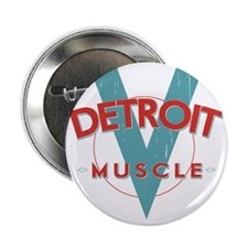 """Detroit Muscle red n blue 2.25"""" Button"""