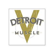 """Detroit Muscle copy Square Sticker 3"""" x 3"""""""